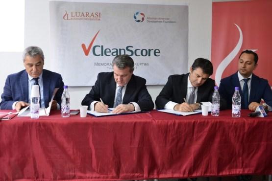 Nënshkrimi i Memorandumit të Mirëkuptimit për zbatimin e Projektit CleanScore