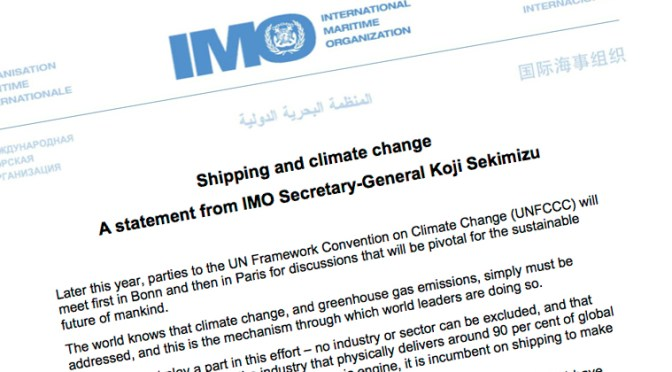 IMO, left to its own devices, has failed to tackle shipping's GHG emissions