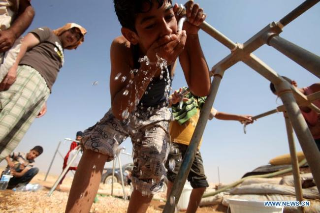 Refugees themselves must do their best to conserve water.