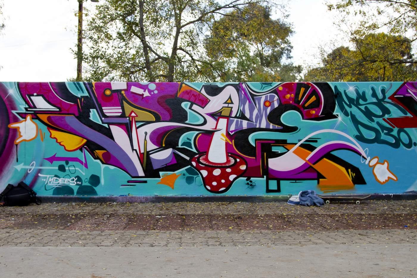graffiti met een paddestoel