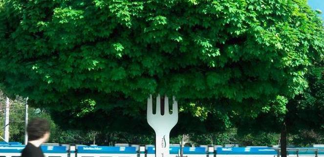Boom met vork