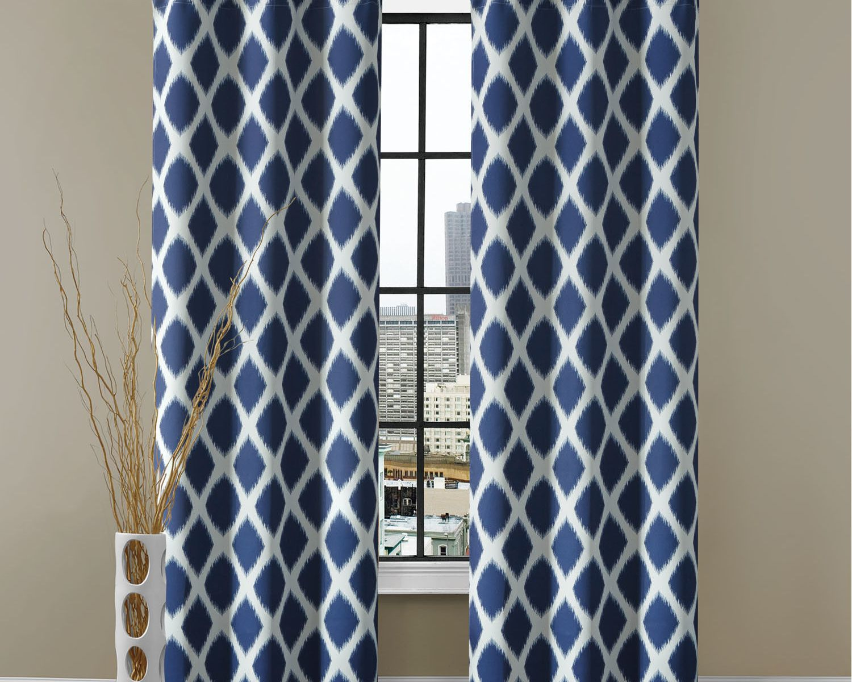 Blue geometric curtains - Blue Geometric Curtains