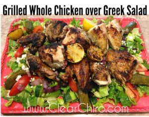 healthy grilled chick greek salad recipe