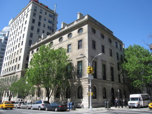 "The headquarters of the Council on Foreign Relations on 68th St. in Manhattan, New York City. The facility was donated to the CFR by David Rockefeller's father, generally known as ""Junior"". Even at 100, David remains the power behind the organization."
