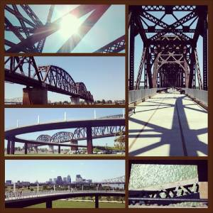 The Big Four Bridge from various angles in May 2013