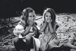 girls giggling