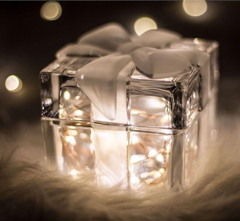 ice wrapped in a bow