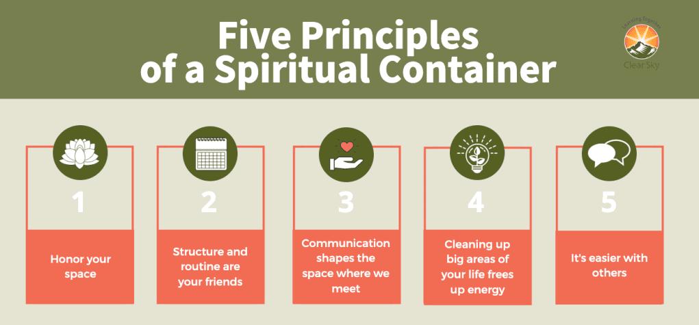 Five principles of spiritual container