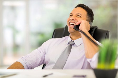 happy business voicemail phone customer