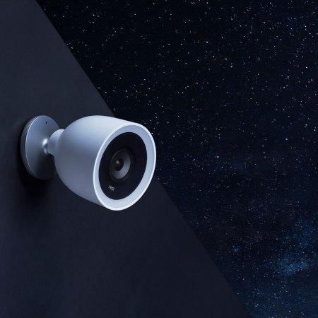 nest cam iq outdoor security camera - night