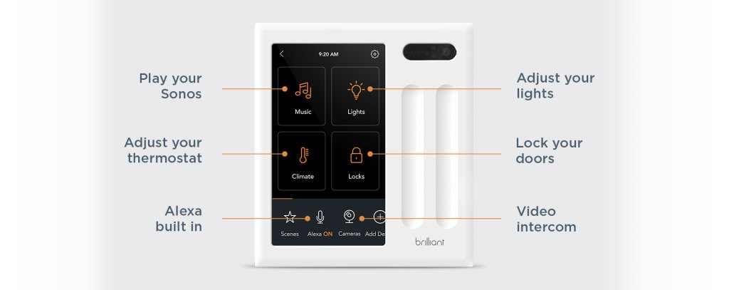 brilliant smart switch home control
