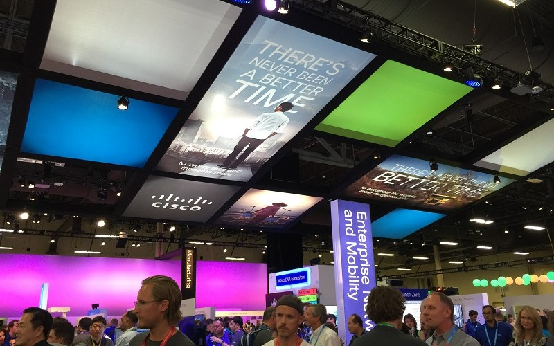The conference floor of Cisco Live.