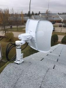Ubiquiti antenna mounted and aligned