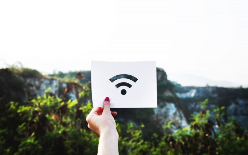 Holding up Wi-Fi