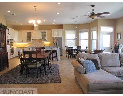 Redington Shores home for sale with open great room plan on the water
