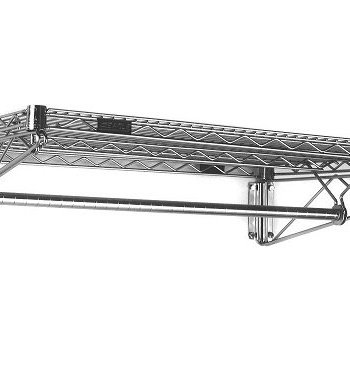 Wall Mounted Gowning Rack With Hanger Tube