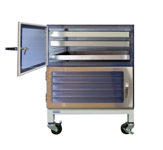 two door desiccator cabinet esd stainless steel drawer