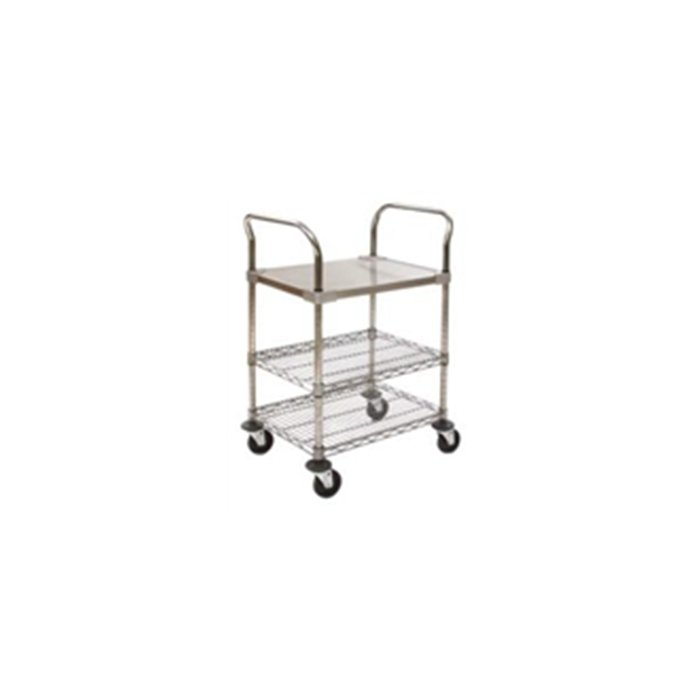 Utility Carts with Solid Stainless Steel Shelf-EU3-2436CS