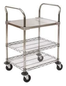 Lab & Cleanroom Utility Carts