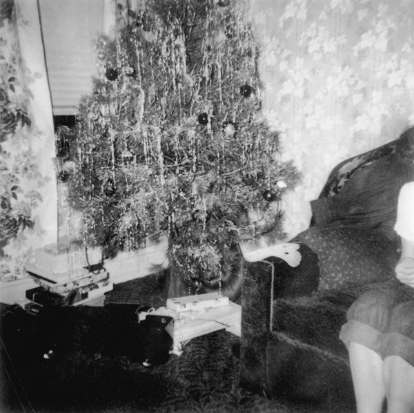 Christmas tree at my Babba's house, Pottstown, 1950s.