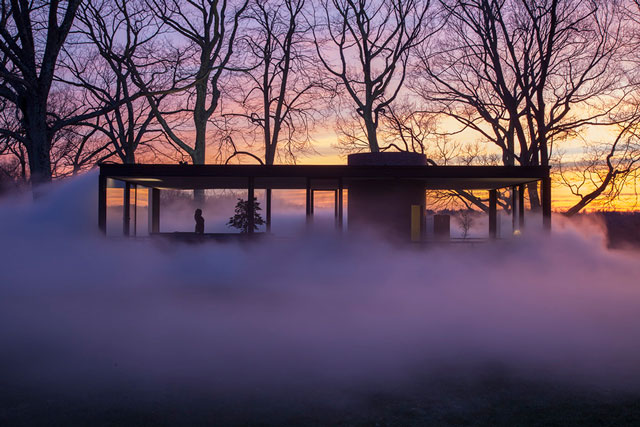"""Veil"", Philip Johnson Glass House, New Canaan, Connecticut, 2014. Photo ©. Richard Barnes, 2014"