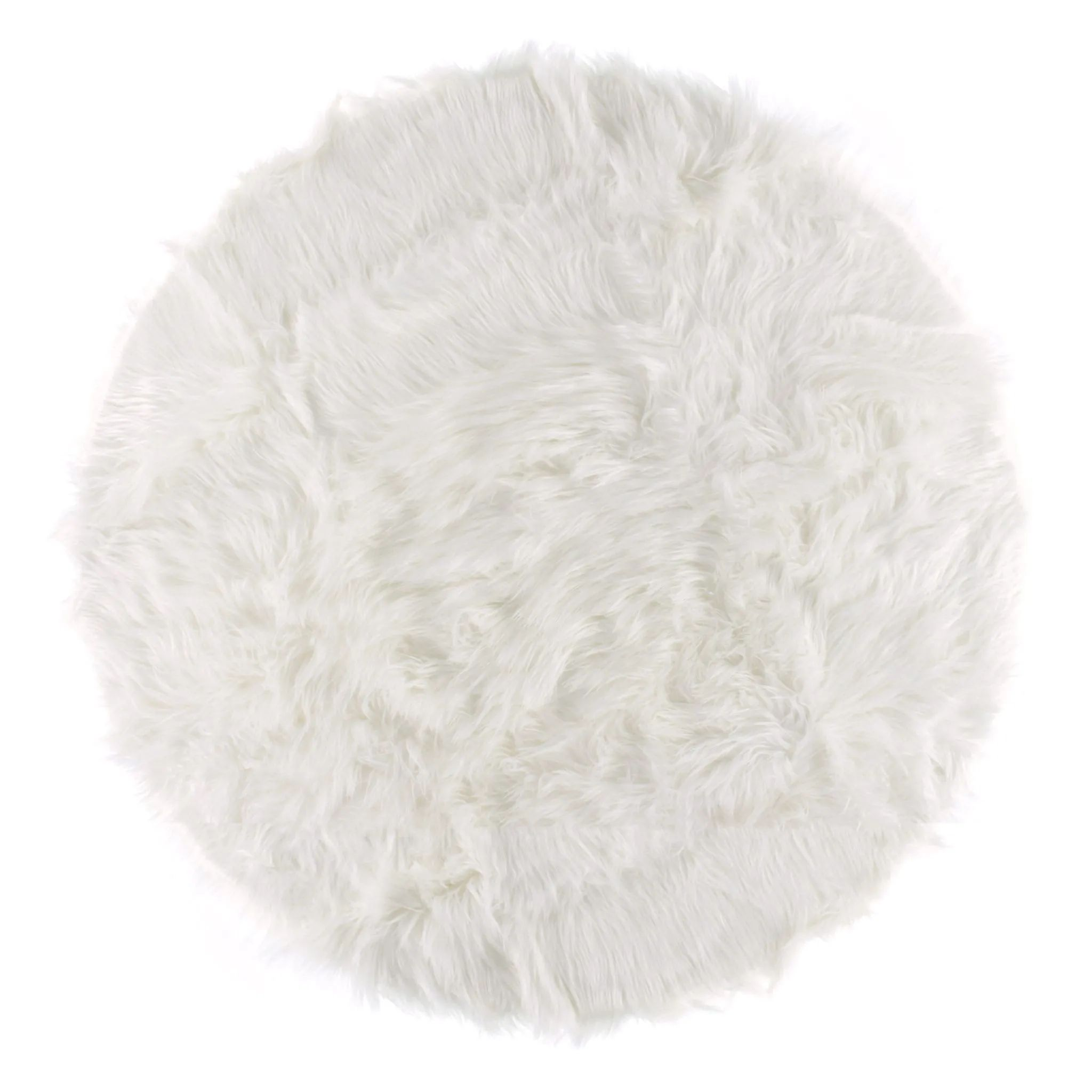 tapis rond en fourrure blanc clement maison clement