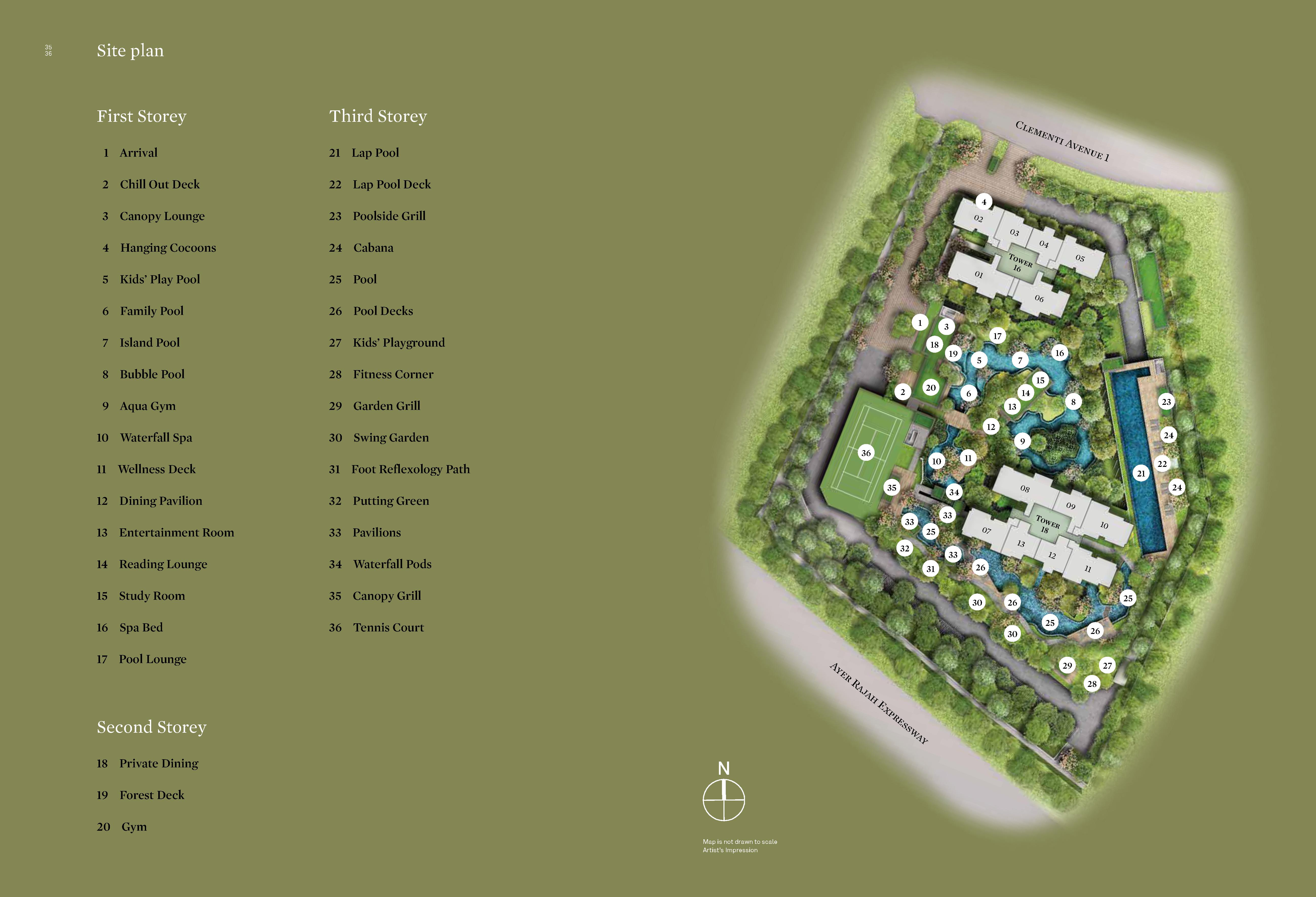 Clement Canopy Site Map