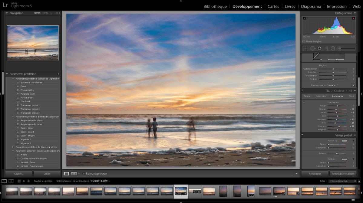 Lightroom : les outils de développement de base