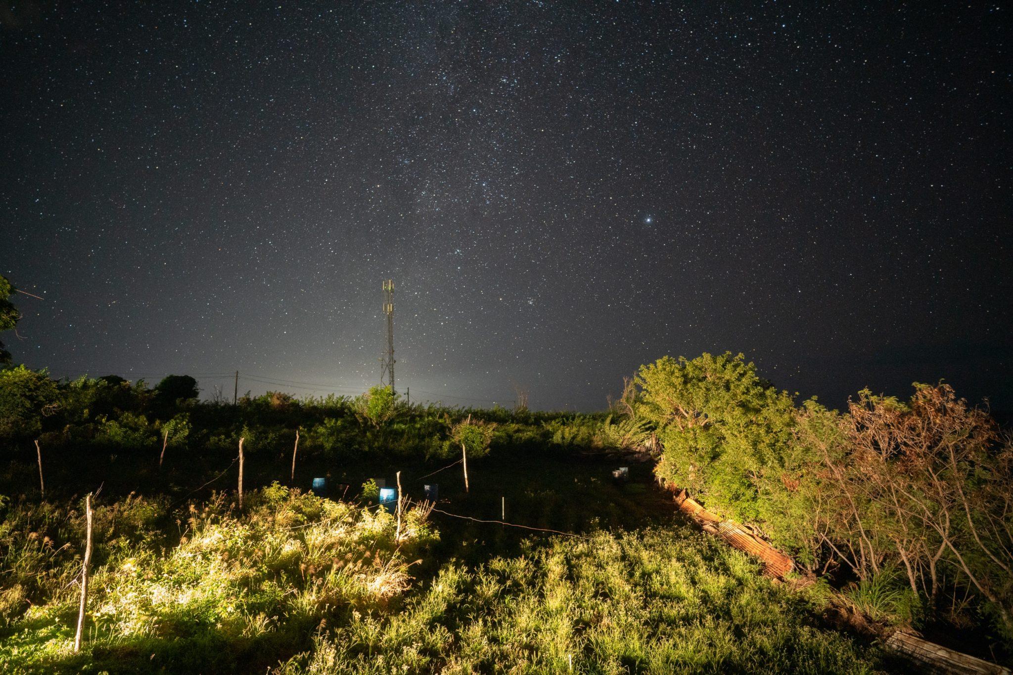 Nuit étoilée depuis l'hotel Stonedge Salisbury, Dominique