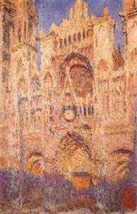 Monet dedicò alla splendida cattedrale di Rouen 31 disegni nelle varie ore del giorno: perché se cambia la luce cambia la visione