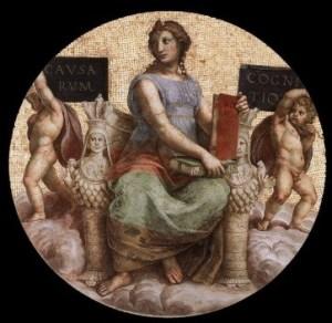 Raffaello, volta della Stanza della Segnatura, 1508, Immagine della Filosofia