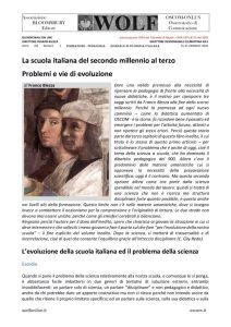 thumbnail of La scuola italiana del secondo millennio al terzo Problemi e vie di evoluzione