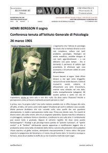 thumbnail of GF Saggi Bergson le reve