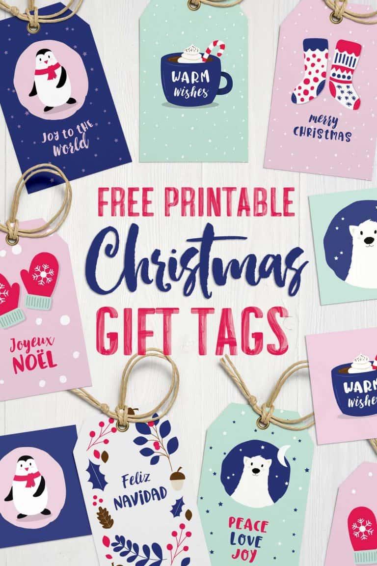 Adorable Printable Christmas Gift Tags