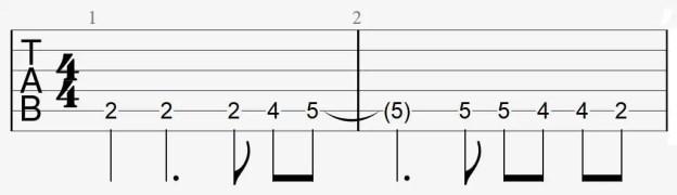 riff guitare savoir jouer connaitre facile débutant