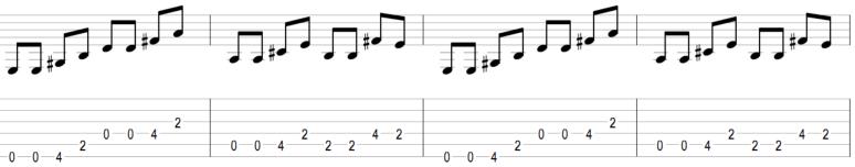 Riff guitare ça c'est vraiment toi connaitre connu savoir jouer exercice placement rythmique facile