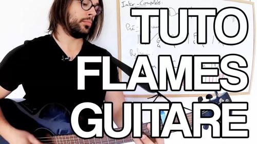 tuto flames guitare jouer david guetta sia facile tablature partition accords apprendre leçon