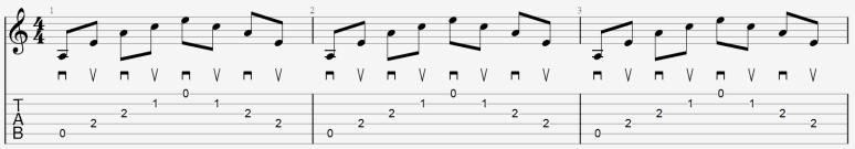 arpèges médiator guitare exemple tablature cours leçon apprendre jouer facile débutant