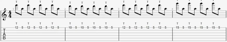 tapping exercice 1 commencer débuter facile guitare cours leçon