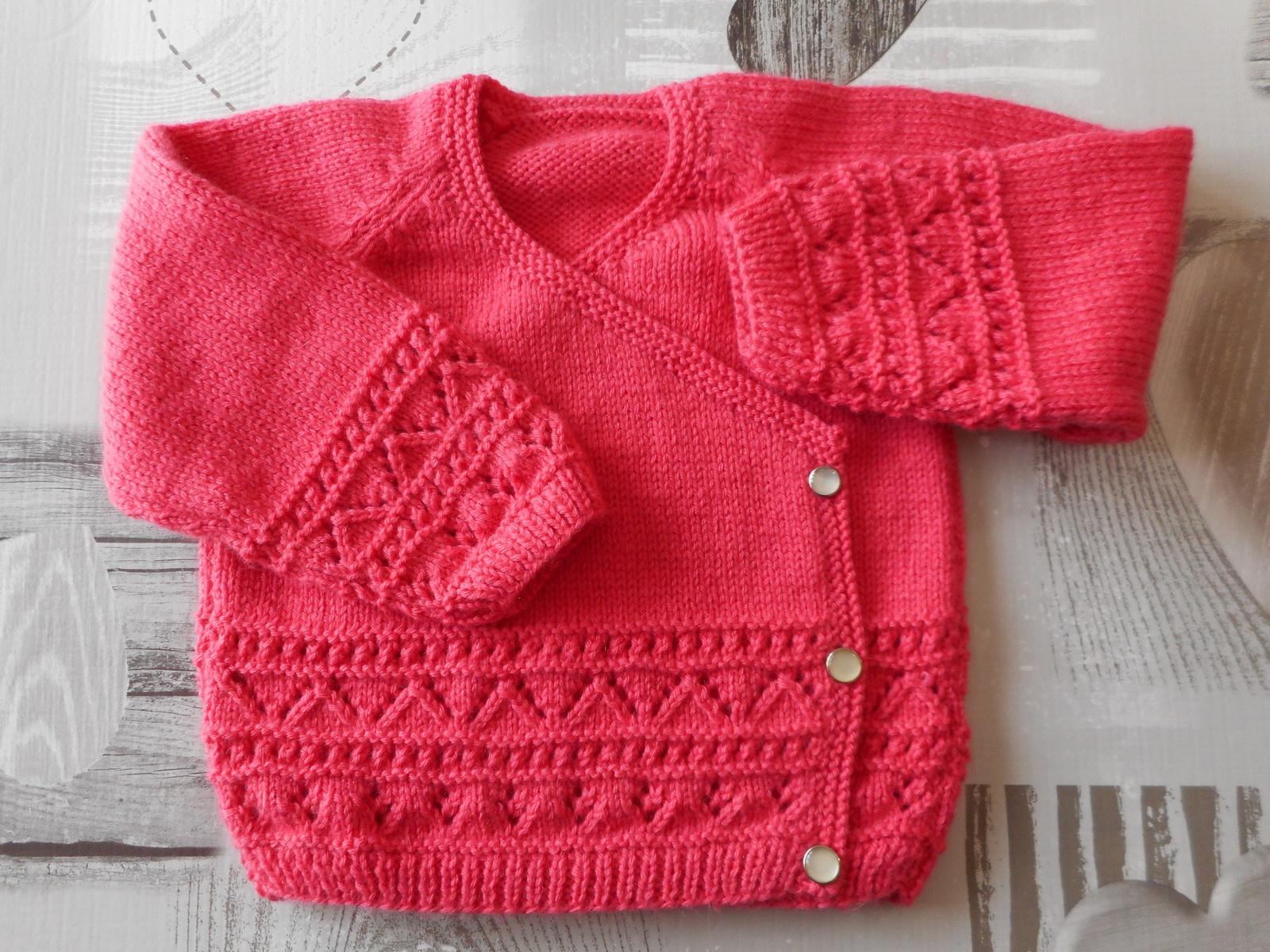 tricot layette bebe modele gratuit