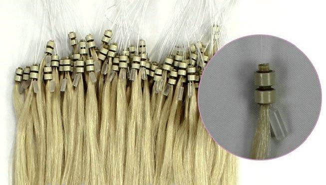 20 Inch Easy Loop Micro Bead Hair Extensions Double Bead 0