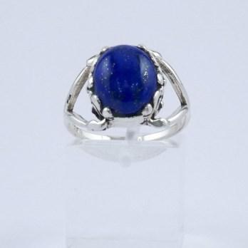 Bague Argent Double fourche te Lapis Lazuli