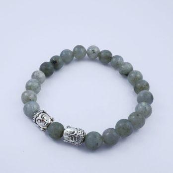 Bracelet Labradorite et bouddha