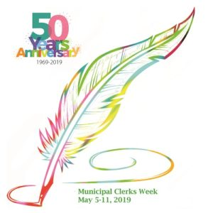 50th Annual Muncipal Clerks Week logo