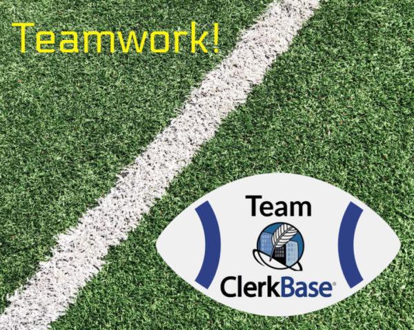 Teamwork - ClerkBase football on field
