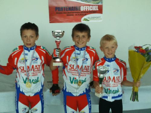 Tom, Michael et Mathis tous les trois premiers de leur catégorie