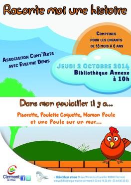 """Raconte lermoi une histoire : """"Dans mon poulailler il y a ..."""", Jeudi 2 octobre 2014 - Clermont (Oise)"""