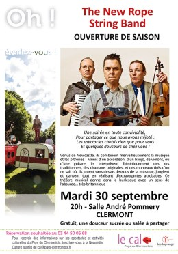 The New Rope String Band - Ouverture de saison du CAL, mardi 30 septembre 2014 - Clermont (Oise)
