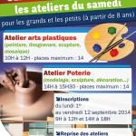 Centre Socioculturel : les ateliers du samedi 2014-2015 - Clermont (Oise)
