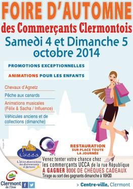 Foire d'Automne des Commerçants Clermontois, les samedi 4 et dimanche 5 octobre 2014 - Clermont (Oise)